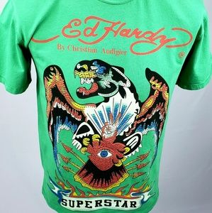 Limited Edition Ed Hardy Swarovski T-Shirt
